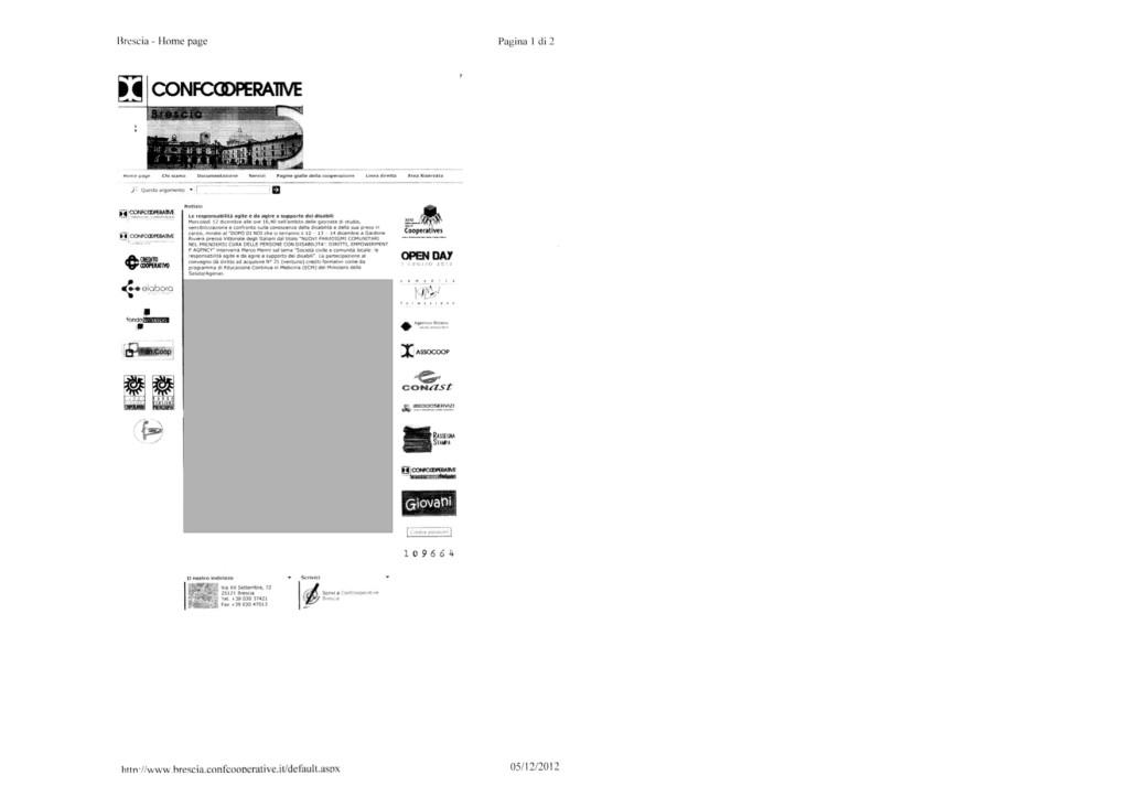 Confcooperative Brescia 05.12.2012
