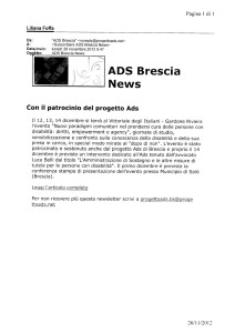 Progetto AdS Brescia 26.11.2012