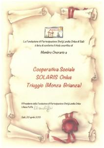 2 pergamena Cooperativa Sociale Solaris Onlus - Triuggio (Monza Brianza