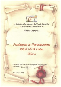 2 pergamena Fondazione di Partecipazione Idea Vita Onlus - Milano
