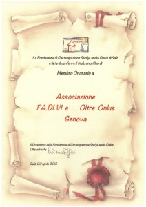 3 pergamena Associazione Fadivi ... e Oltre Onlus - Genova