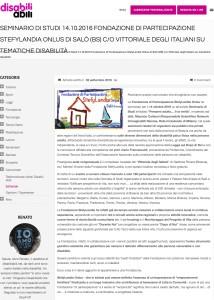 disabiliabili.net - Seminario di Studi 14.10.2016 Fondazione di Partecipazione StefyLandia Onlus di