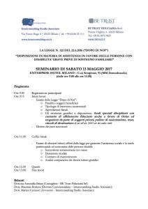 Programma Seminario del 13 5 17