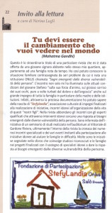 articolo sul giornalino parrocchiale Duomo