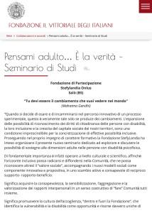 Pensami adulto... È la verità - Seminario di Studi - Fondazione Il Vittoriale degli Italiani