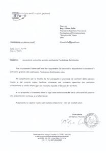 Lettera patrocinio, gradimento e stima 20.11.2014