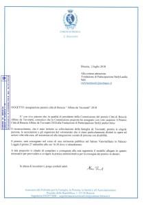 Premio Città di Brescia de Tavonatti 2018 a Fondazione di Parteciazione StefyLandia Onlus