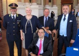 foto con Sindaco Salò e comandante vigili di Salò