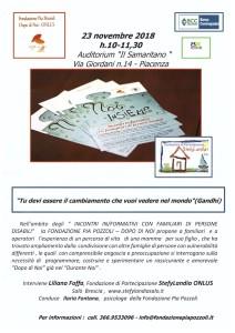 Incontro con Fondazione PIa Pozzoli Piacenza 23.11.2018