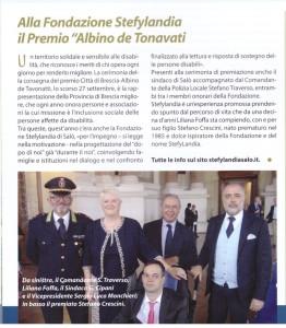 Premio de Tavonatti 2018 articolo e foto con Sindaco