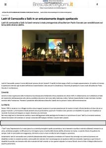 Ladri di Carrozzelle a Salò in un entusiasmante doppio spettacolo - Brescia Settegiorni