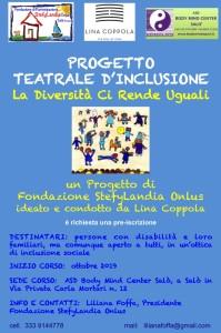 Locandina Progetto teatrale 2019-2020