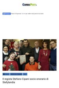 Il regista Stefano Cipani socio onorario di Stefylandia – Gardapost